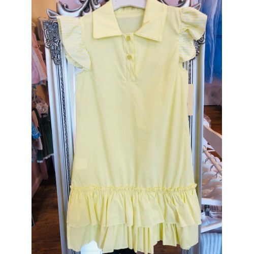 GIRLS LEMON SHIRT DRESS